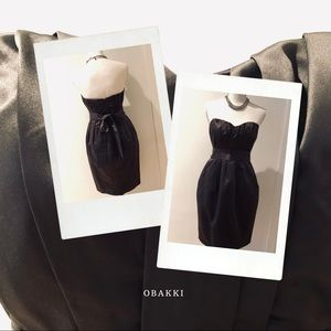 OBAKKI grey satin evening dress size 4